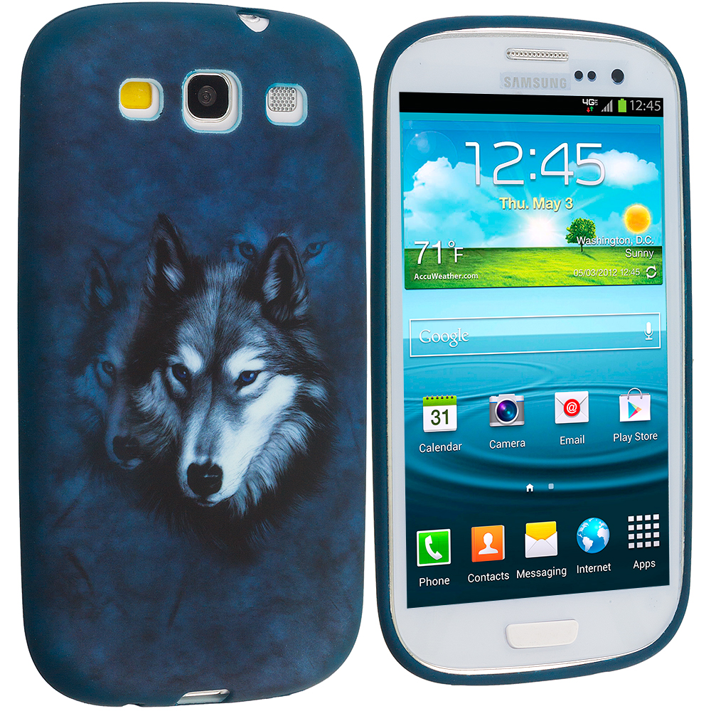 Samsung Galaxy S3 Wolf TPU Design Soft Case Cover