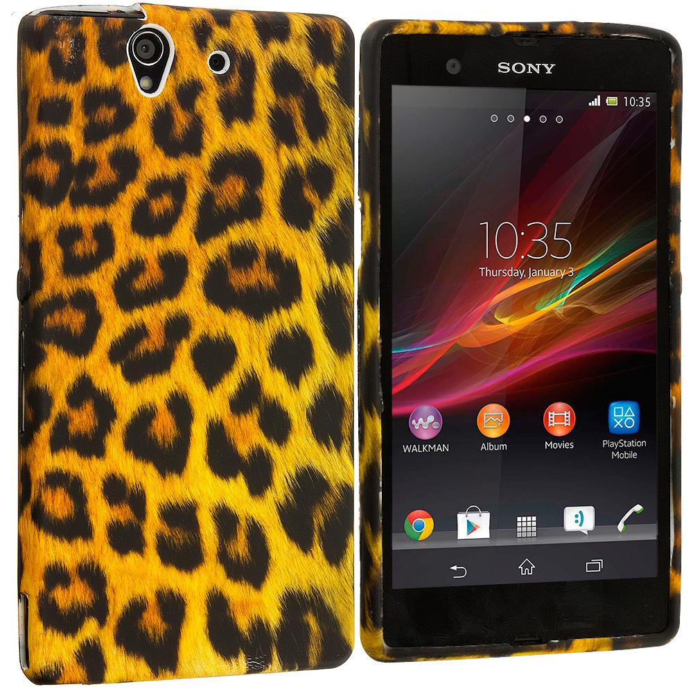 Sony Xperia Z Leopard Print TPU Design Soft Case Cover