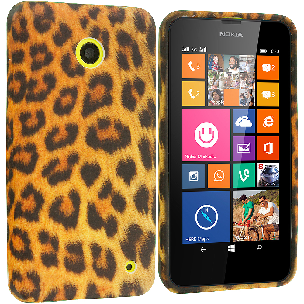 Nokia Lumia 630 635 Leopard Print TPU Design Soft Rubber Case Cover
