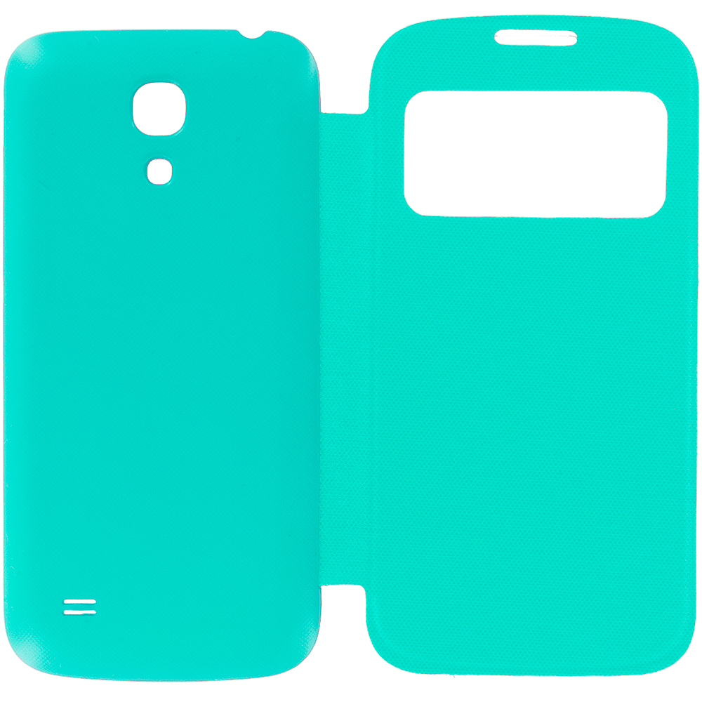 Samsung Galaxy S4 Teal Battery Door Rear Replacement Ultra Slim Wallet Flip Case Cover