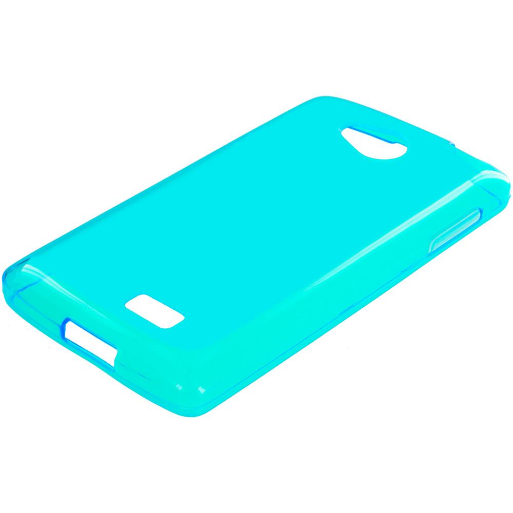 LG Transpyre Tribute F60 Baby Blue TPU Rubber Skin Case Cover