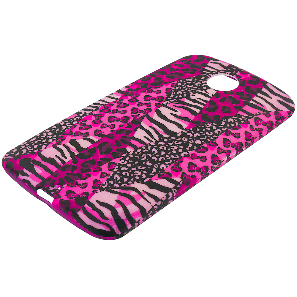 Motorola Google Nexus 6 Bowknot Zebra TPU Design Soft Rubber Case Cover