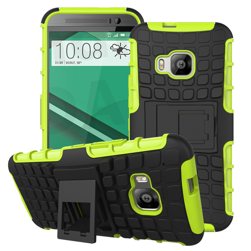 HTC One M9 - Neon Green MPERO IMPACT SR - Kickstand Case Cover
