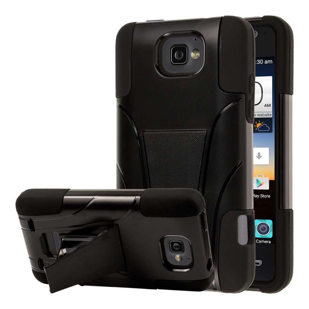 ZTE Sonata 2 - Black MPERO IMPACT X - Kickstand Case Cover