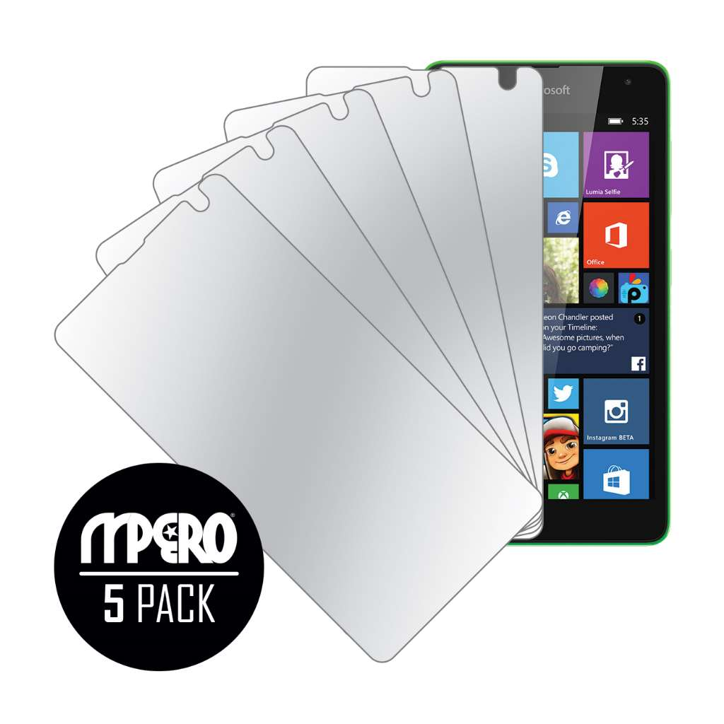Microsoft Lumia 535 MPERO 5 Pack of Mirror Screen Protectors