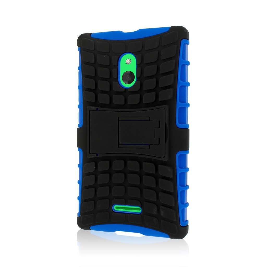 Nokia XL - Blue / Gray MPERO IMPACT SR - Kickstand Case Cover