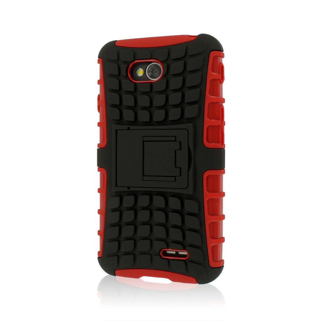LG Optimus L70 - Red MPERO IMPACT SR - Kickstand Case Cover