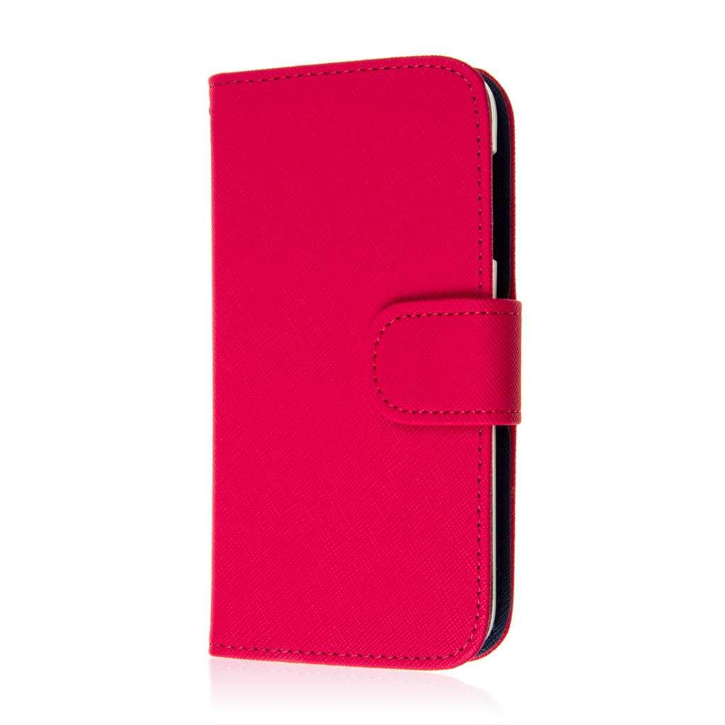 HTC Desire 510 - Hot Pink MPERO FLEX FLIP Wallet Case Cover