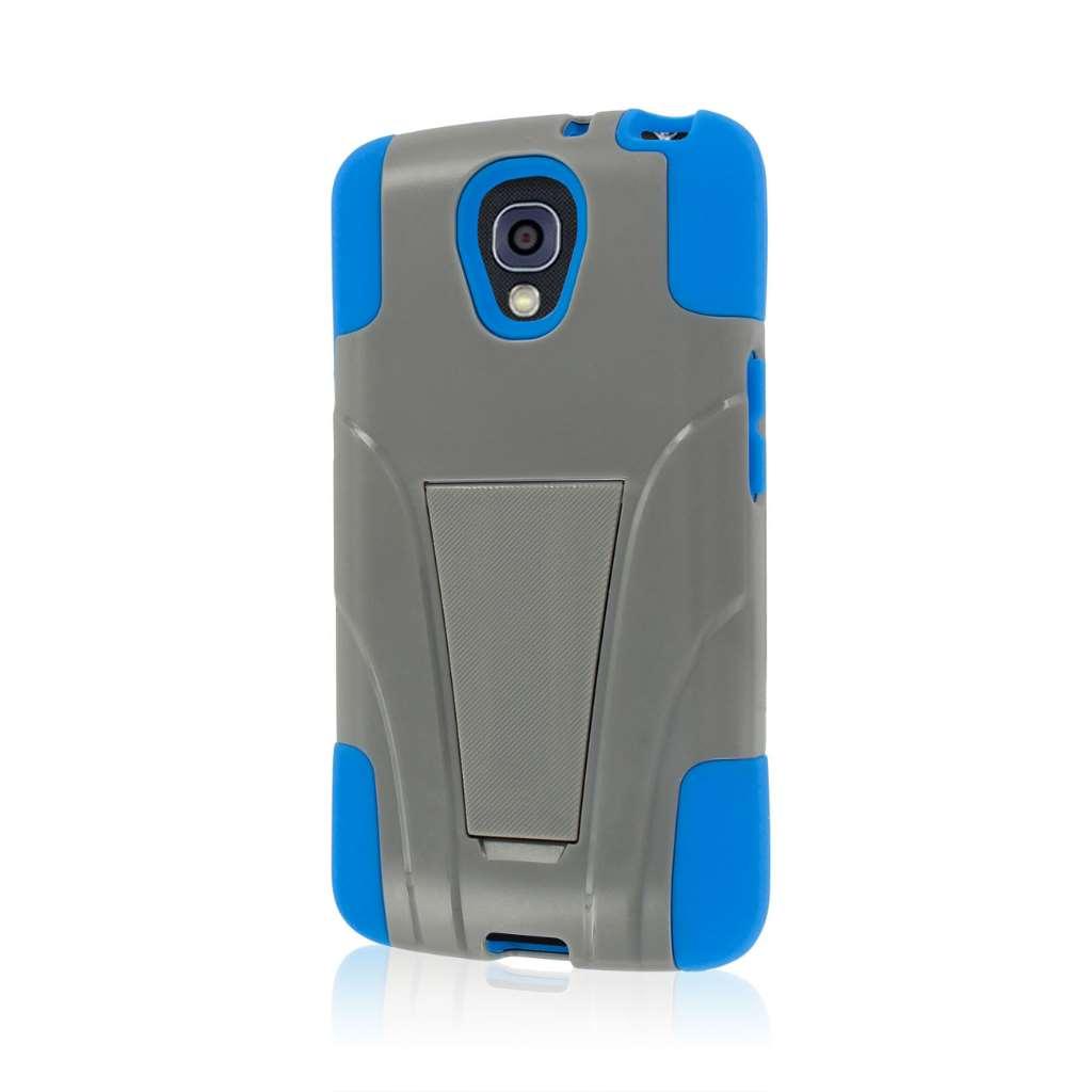 LG Volt - Blue / Gray MPERO IMPACT X - Kickstand Case Cover