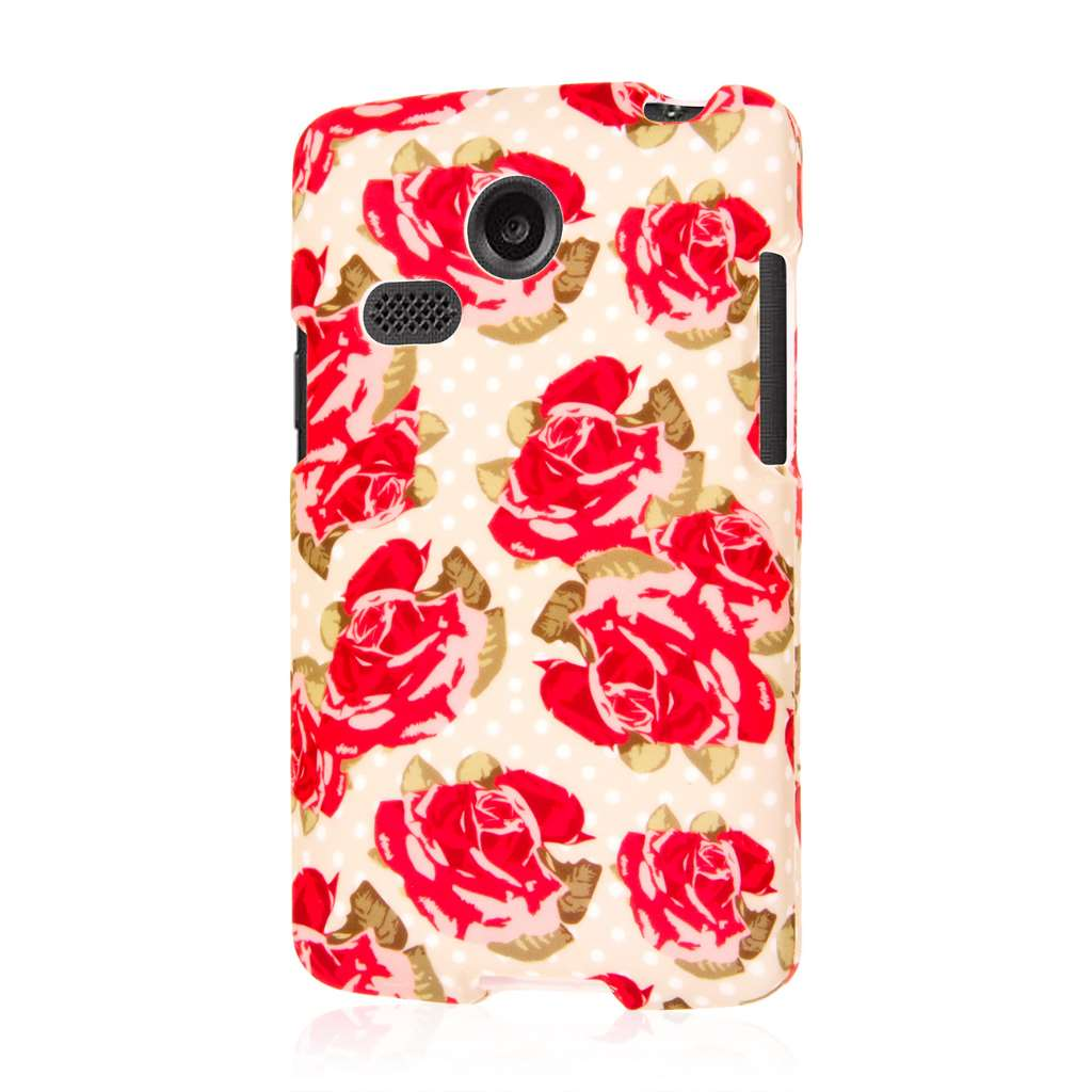 LG Lucky - Vintage Red Roses MPERO SNAPZ - Case Cover