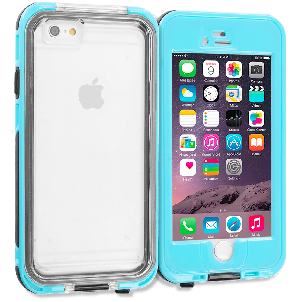 Apple iPhone 6 Plus 6S Plus (5.5) Baby Blue Waterproof Shockproof Dirtproof Hard Full Protection Case Cover