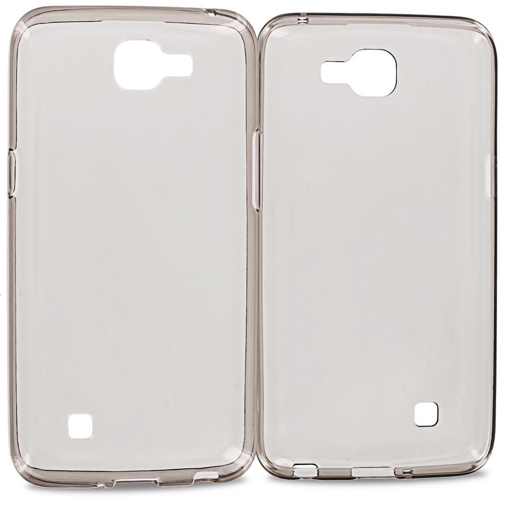 LG Spree Optimus Zone 3 VS425 K4 Smoke TPU Rubber Skin Case Cover