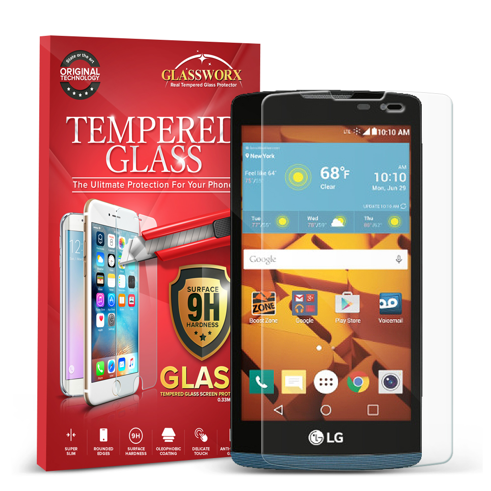 LG Tribute 2 Leon Power Destiny GlassWorX HD Clear Tempered Glass Screen Protector