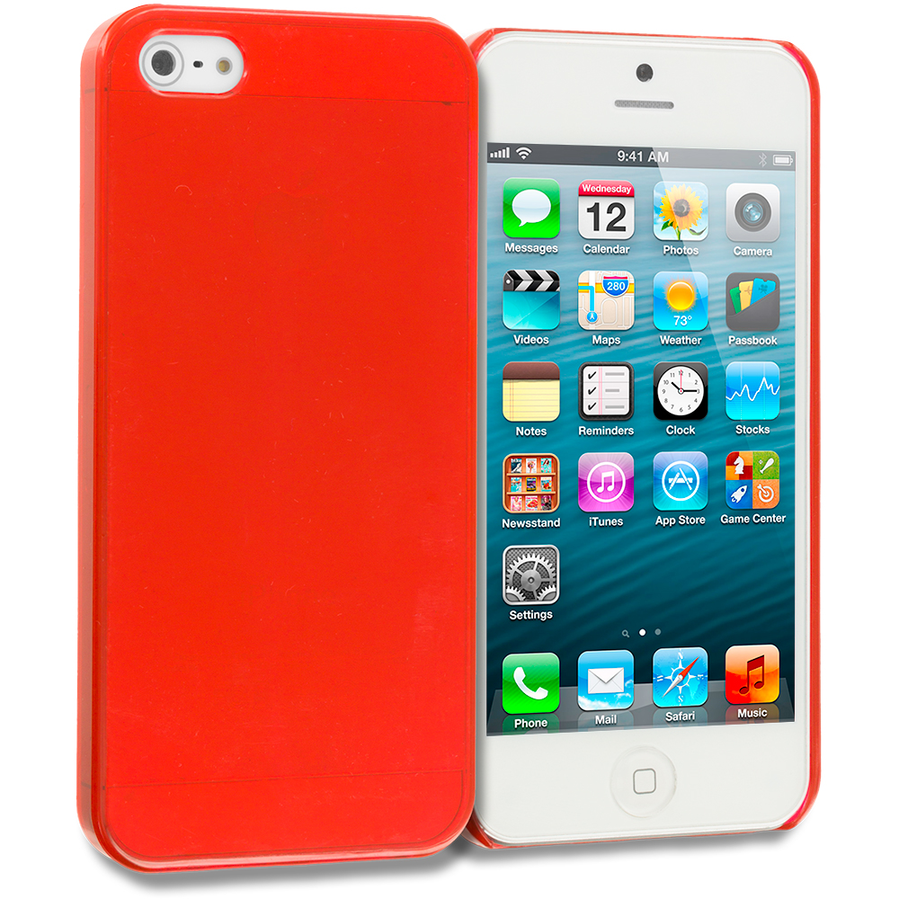 Apple iPhone 5/5S/SE Red Crystal Hard Back Cover Case