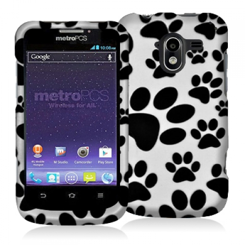 ZTE Avid 4G N9120 Dog Paw Hard Rubberized Design Case Cover