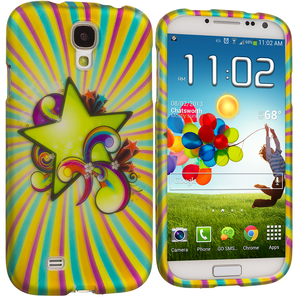 Samsung Galaxy S4 SuperStar Hard Rubberized Design Case Cover