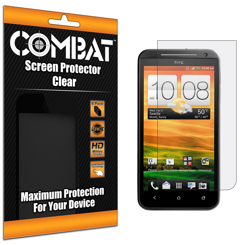 HTC EVO 4G LTE Combat 6 Pack HD Clear Screen Protector