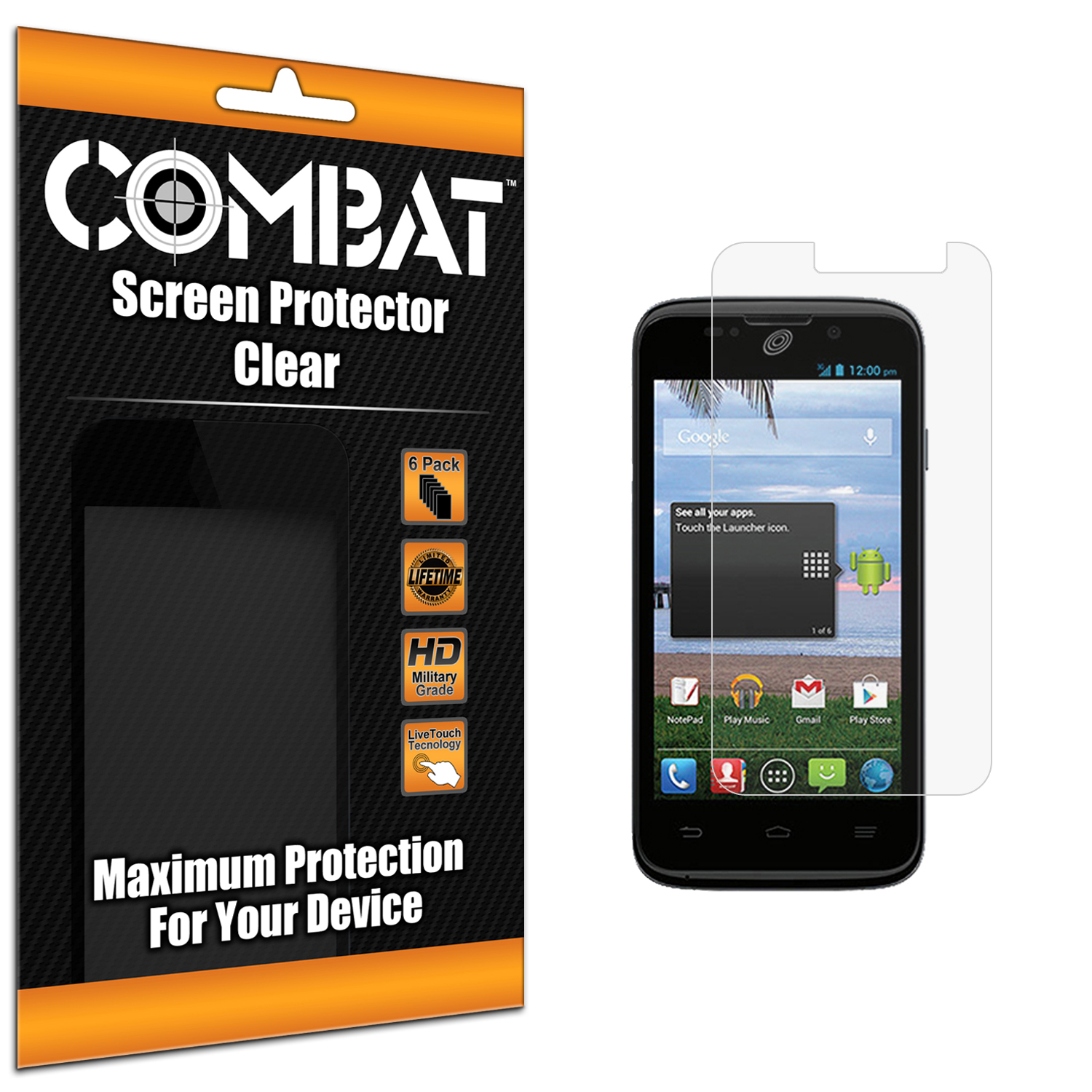 Lenovo S860 Combat 3 Pack HD Clear Screen Protector