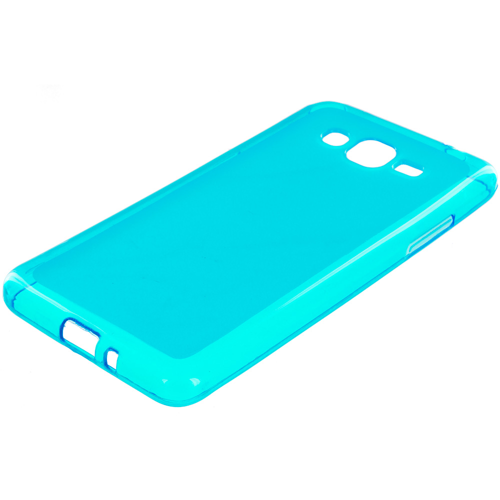 Samsung Galaxy Grand Prime LTE G530 Baby Blue TPU Rubber Skin Case Cover