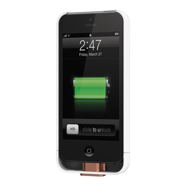 iPhone 5/5S/SE - White Duracell PowerMat PowerSnap Kit