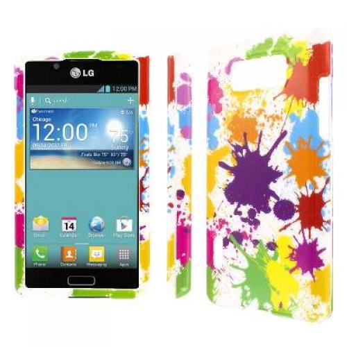 LG Splendor - White Paint Splatter MPERO SNAPZ - Glossy Case Cover
