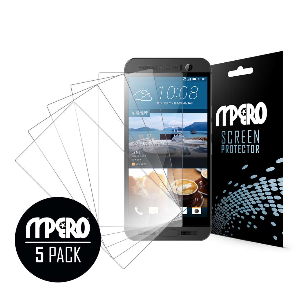 HTC One M9 Plus MPERO 5 Pack of Ultra Clear Screen Protectors
