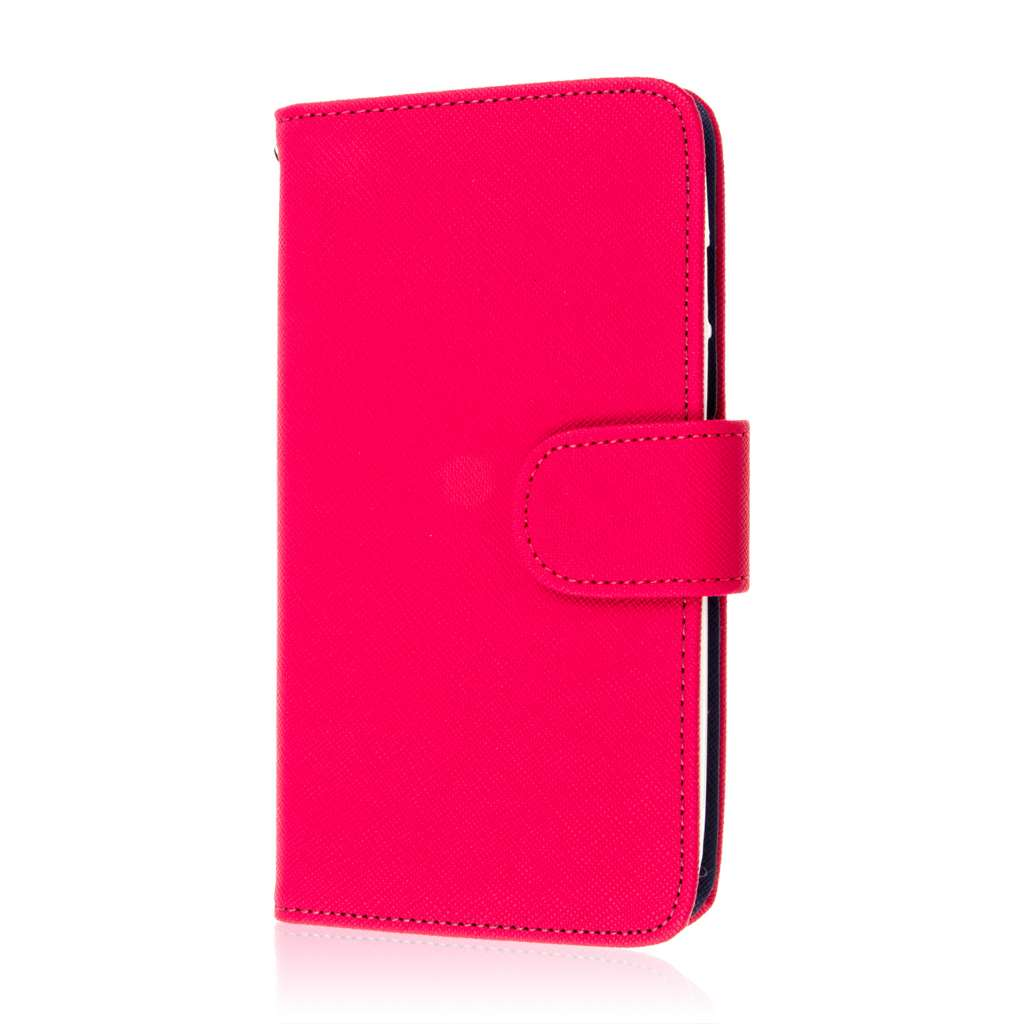 Motorola DROID TURBO - Hot Pink MPERO FLEX FLIP Wallet Case Cover