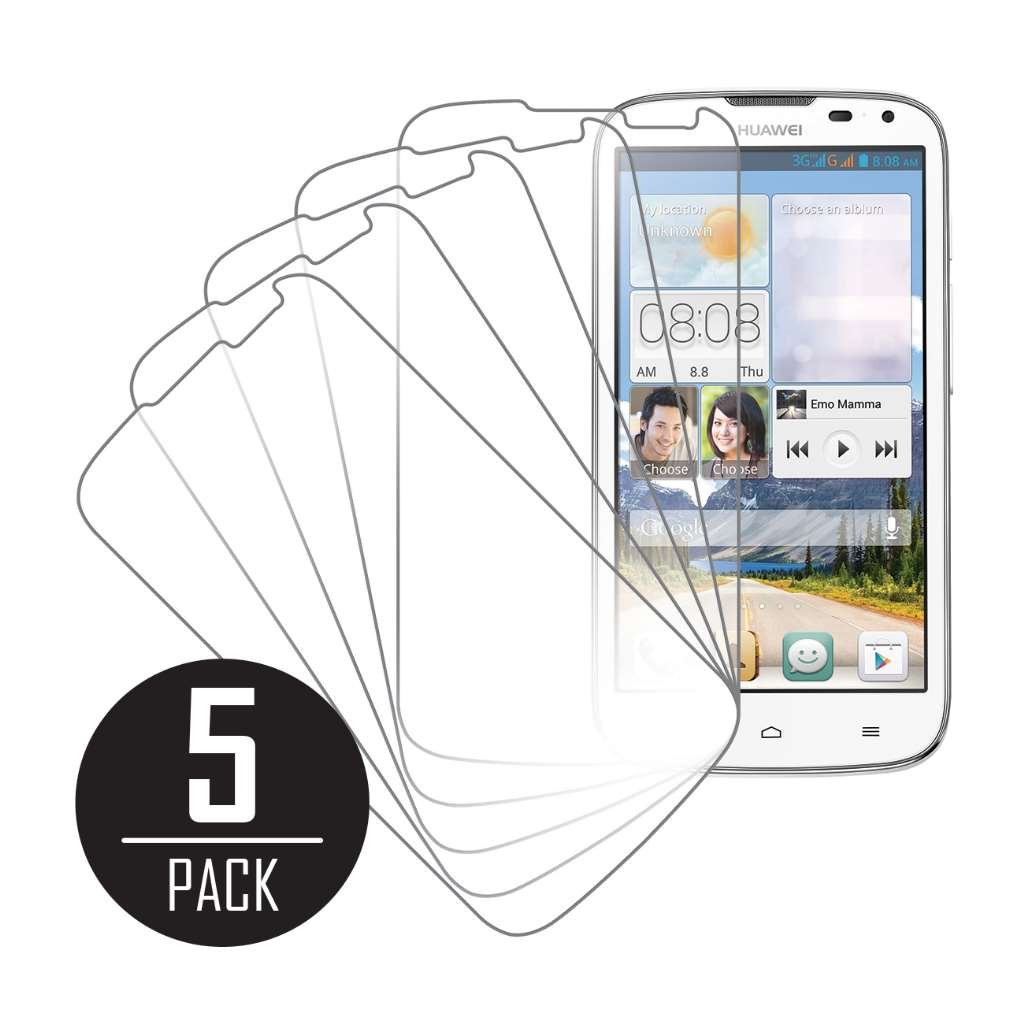 Huawei Ascend G610 MPERO 5 Pack of Clear Screen Protectors