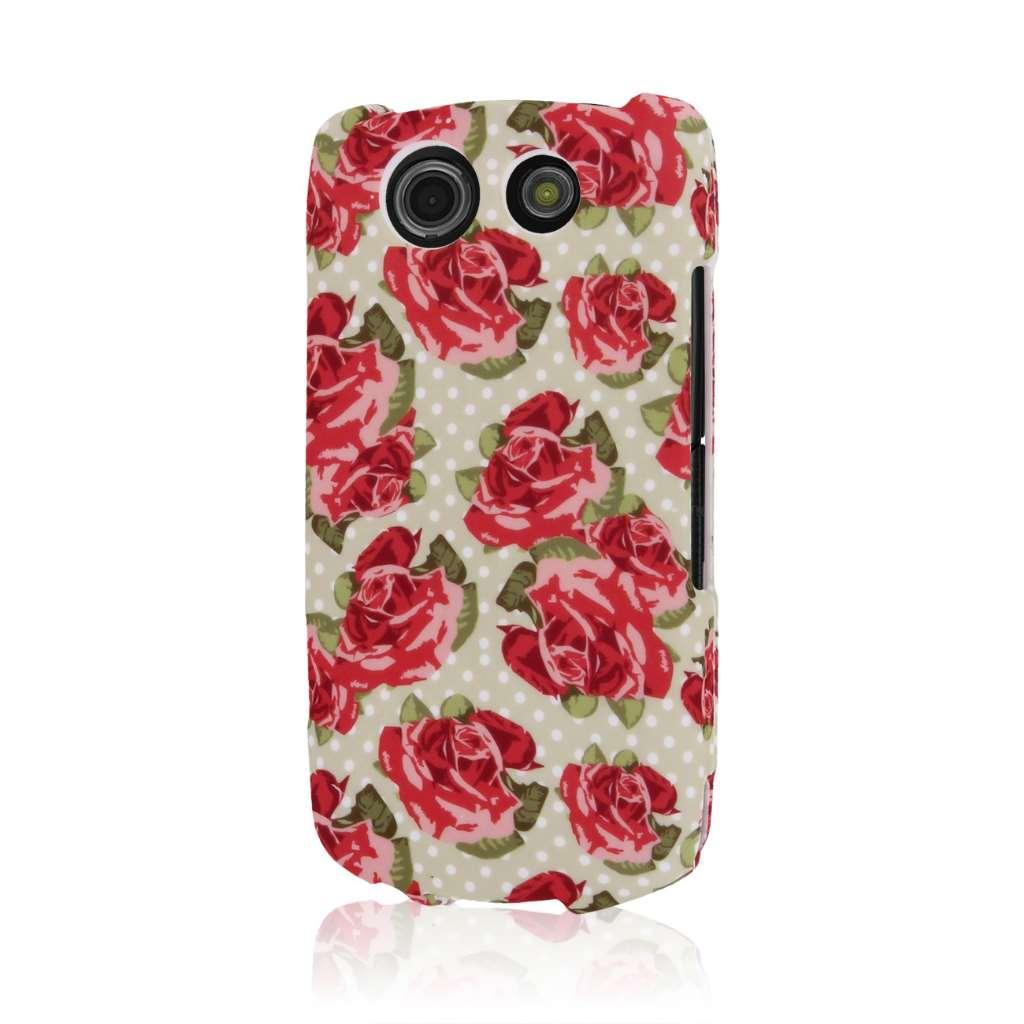 Kyocera Brigadier - Vintage Red Roses MPERO SNAPZ - Case Cover