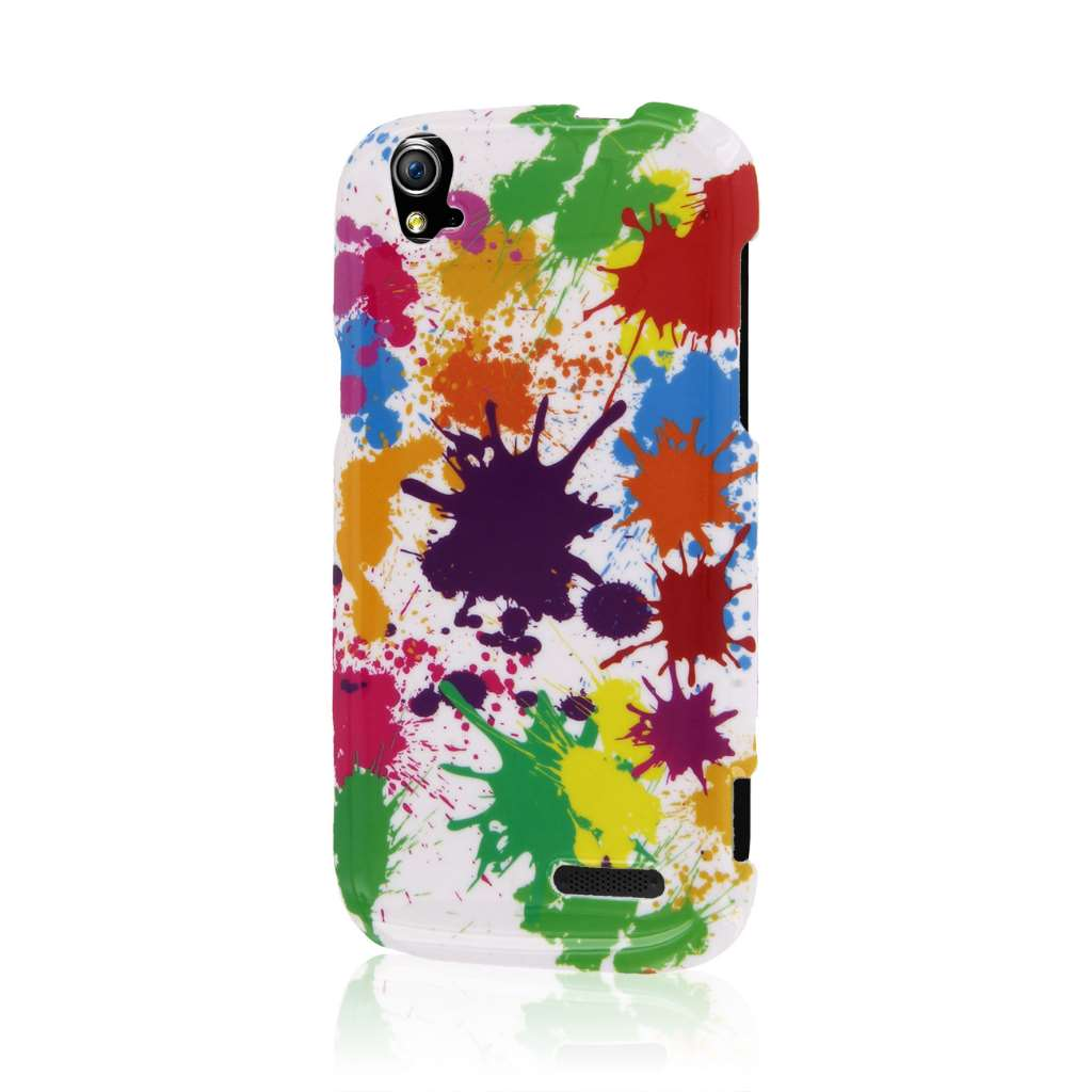 ZTE Grand X Z777 - White Paint Splatter MPERO SNAPZ - Case Cover