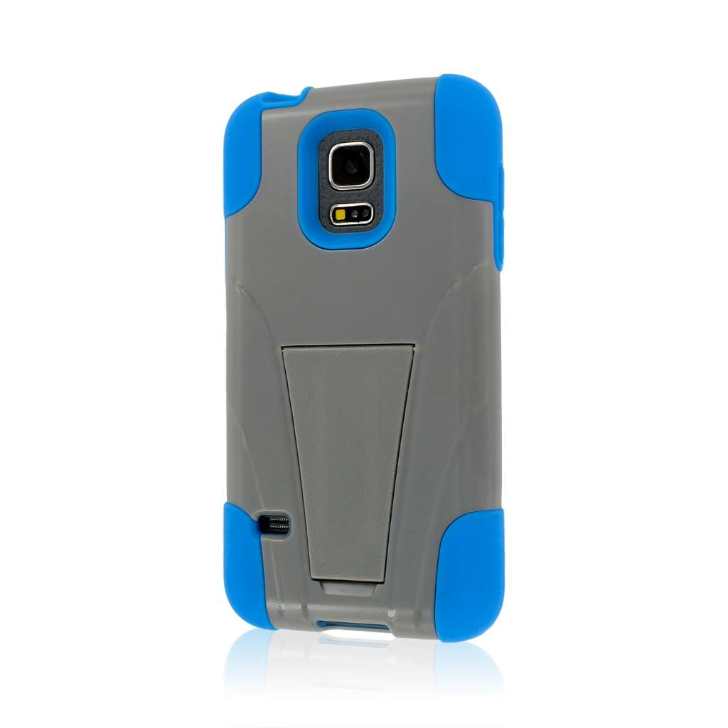 Samsung Galaxy S5 Mini - Blue / Gray MPERO IMPACT X - Kickstand Case Cover
