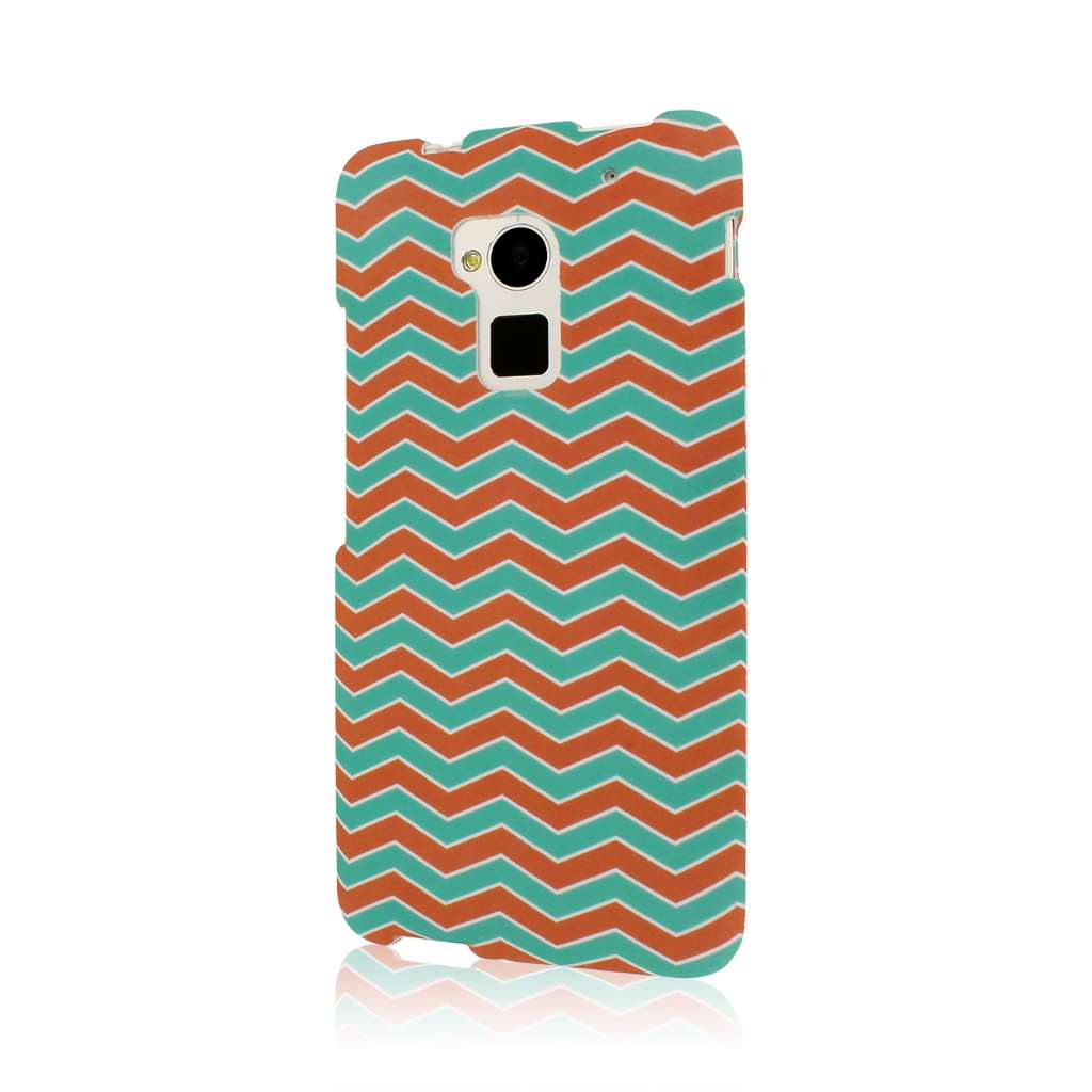 HTC One Max - Mint Chevron MPERO SNAPZ - Rubberized Case Cover