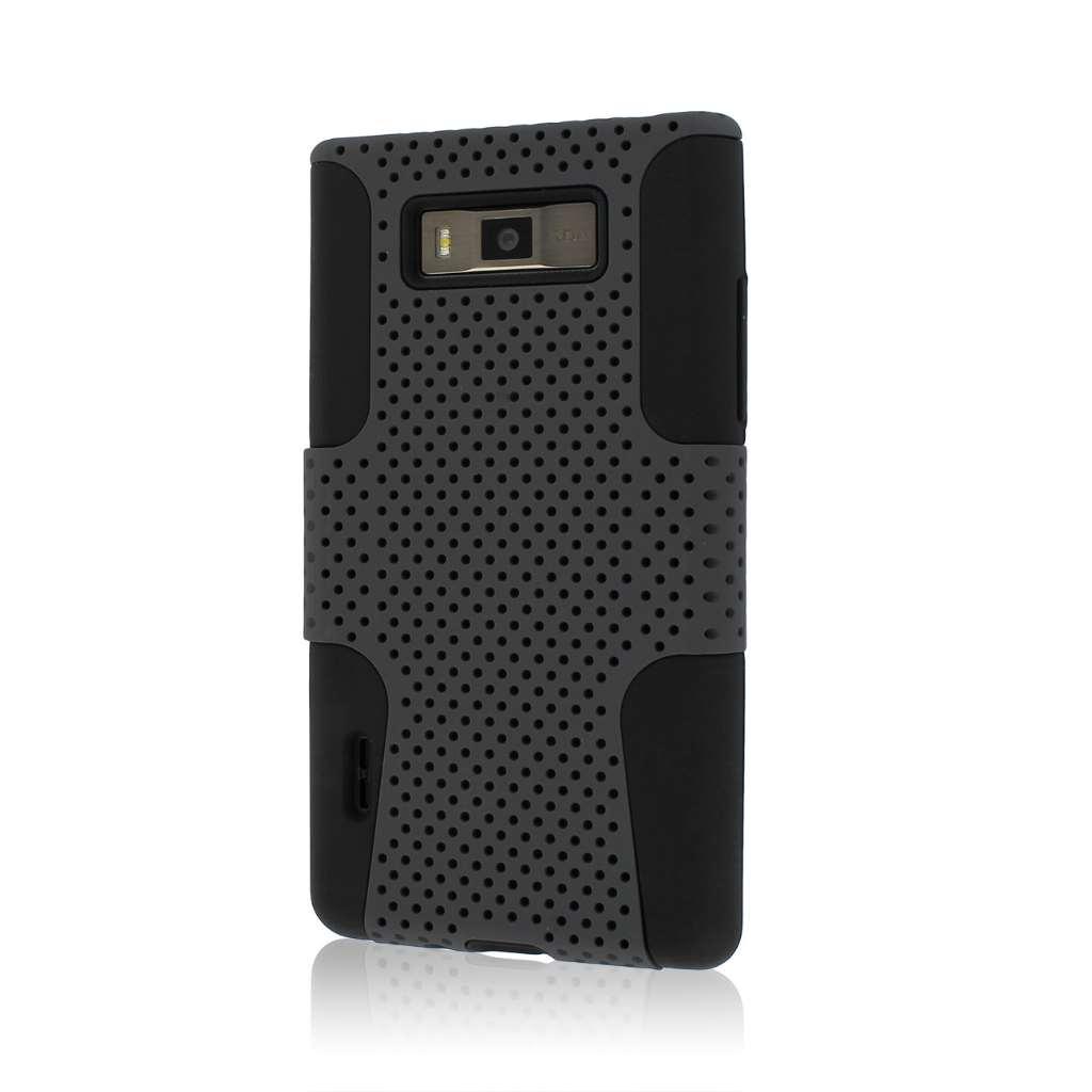 LG Splendor / Venice US730 - Gray MPERO FUSION M - Protective Case Cover