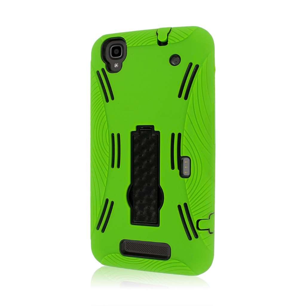 ZTE Boost Max- NEON GREEN MPERO IMPACT XL - Kickstand Case Cover
