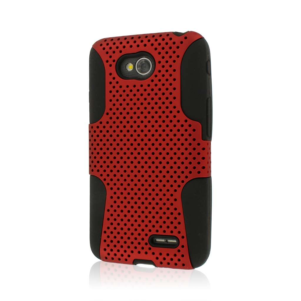 LG Optimus L70 - Red MPERO FUSION M - Protective Case Cover