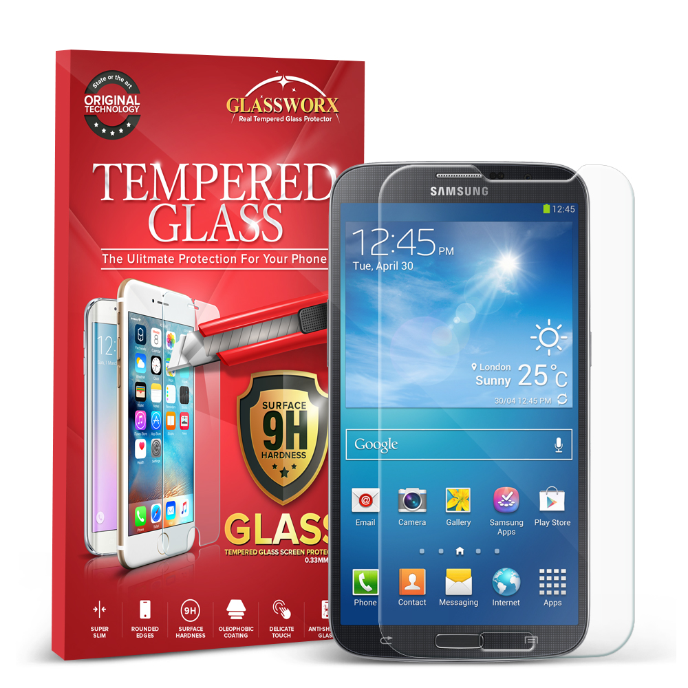 Samsung Galaxy Mega 6.3 GlassWorX HD Clear Tempered Glass Screen Protector