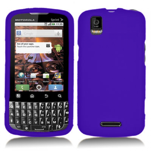 Motorola Xprt Purple Silicone Soft Skin Case Cover