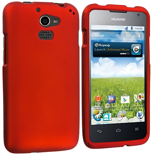 Huawei Premia 4G Orange Hard Rubberized Case Cover