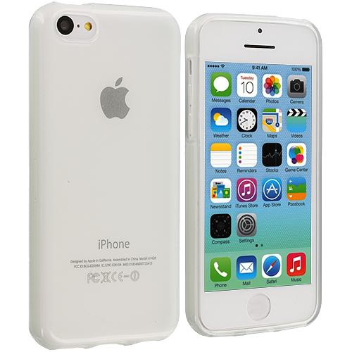 Apple iPhone 5C Clear TPU Rubber Skin Case Cover