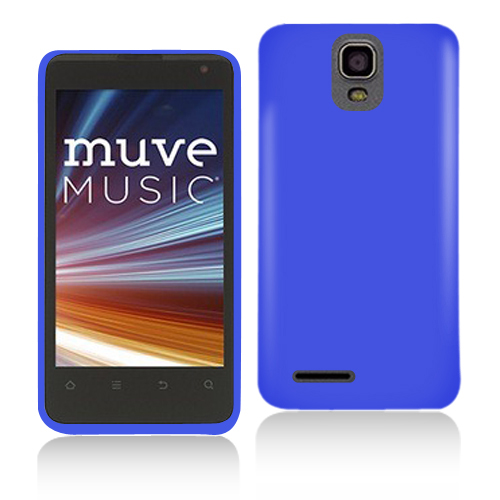 ZTE Engage LT N8000 Blue Hard Rubberized Case Cover