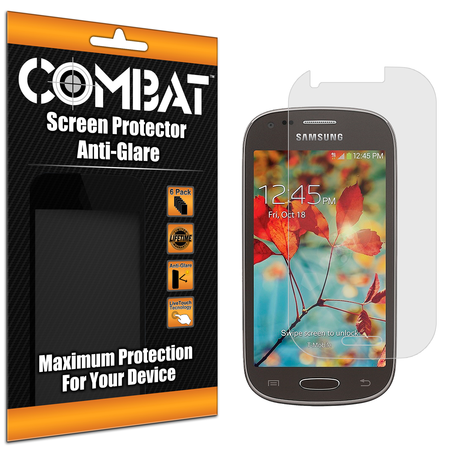 Samsung Galaxy Light T399 Combat 6 Pack Anti-Glare Matte Screen Protector