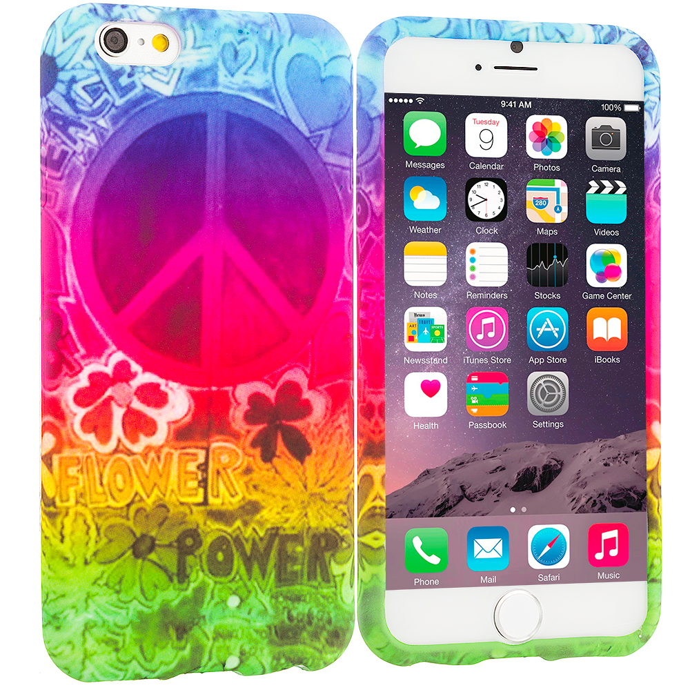 Apple iPhone 6 6S (4.7) Flower Power TPU Design Soft Case Cover