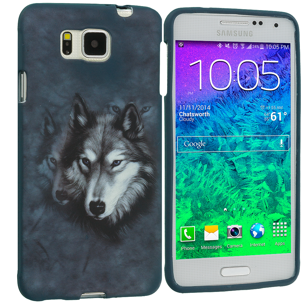 Samsung Galaxy Alpha G850 Wolf TPU Design Soft Rubber Case Cover
