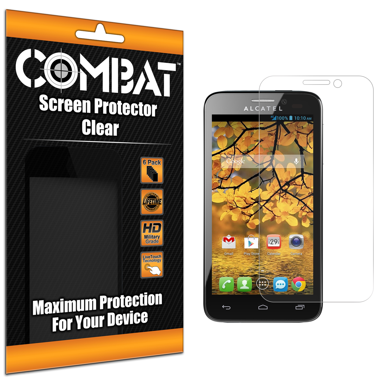 Alcatel One Touch Evolve 2 Combat 6 Pack HD Clear Screen Protector