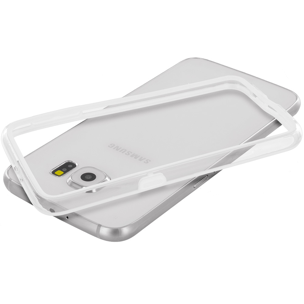 Samsung Galaxy S6 White / Clear TPU Bumper Frame Case Cover