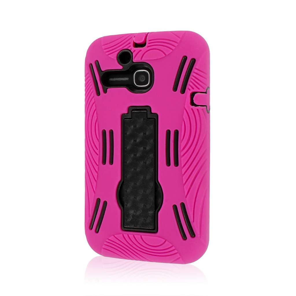 Alcatel OneTouch Evolve - Hot Pink MPERO IMPACT XL - Kickstand Case Cover