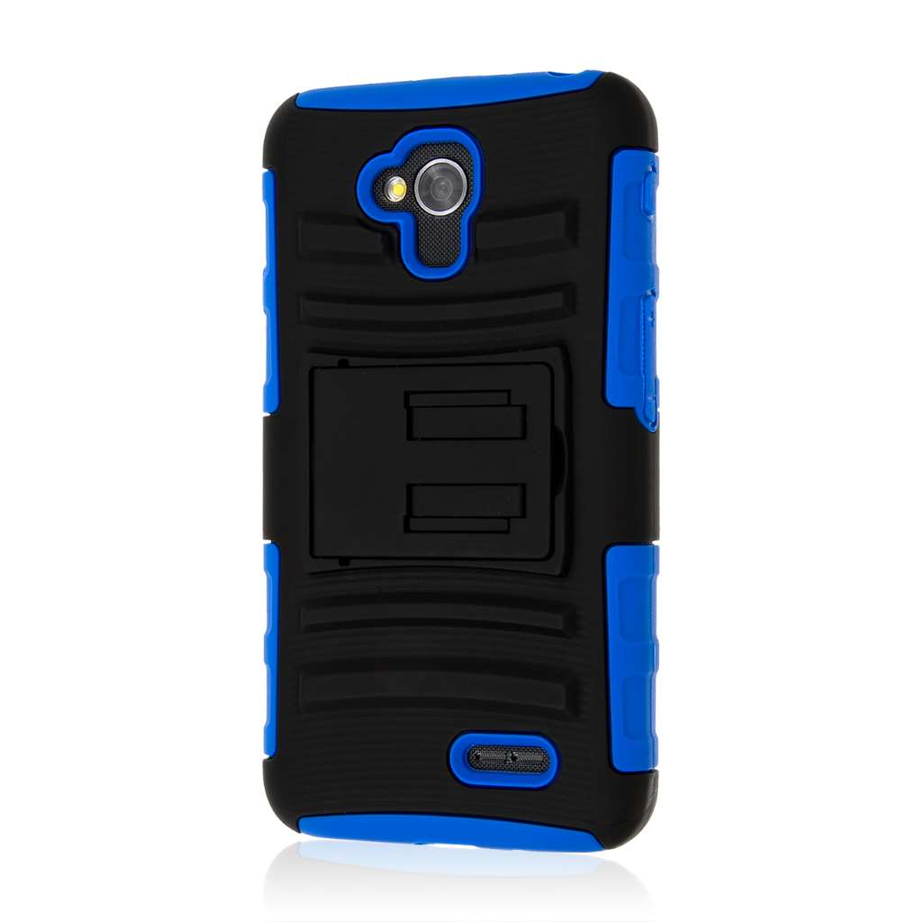 LG Optimus L70 - Blue MPERO IMPACT XT - Kickstand Case Cover