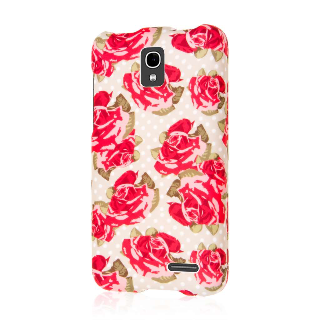 Alcatel OneTouch Pop Star LTE - Red Roses MPERO SNAPZ - Rubberized Case