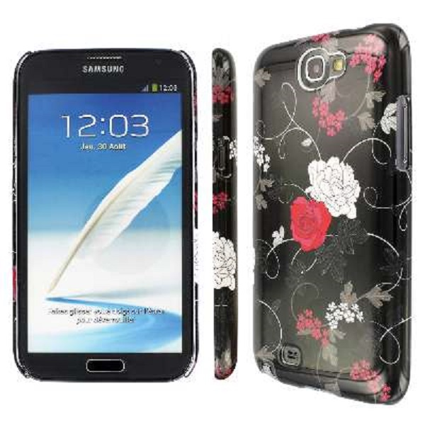 Samsung Galaxy Note 2 MPERO Slim Fit Two Buds Flower Case Cover