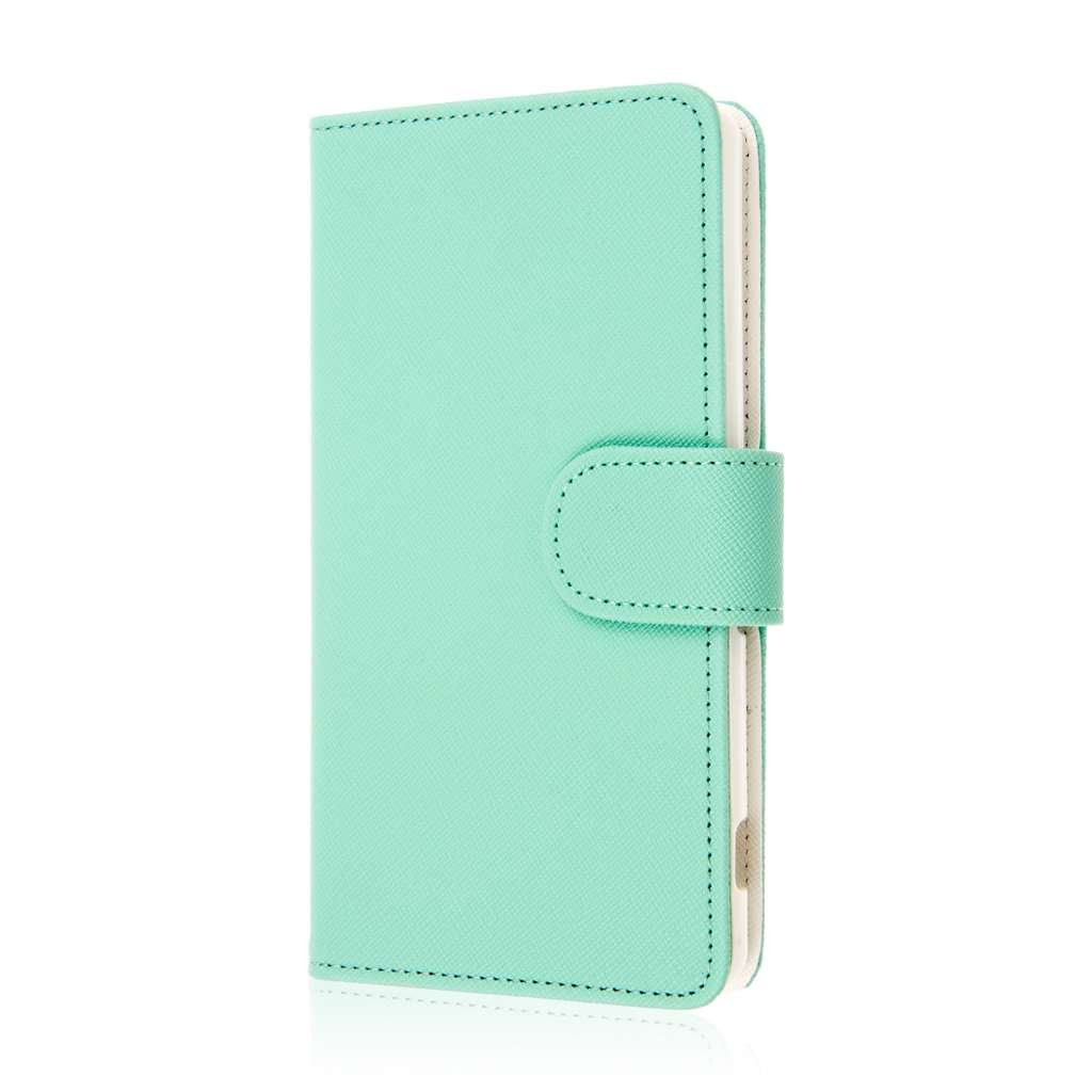 Sony Xperia Z3v - Mint MPERO FLEX FLIP Wallet Case Cover